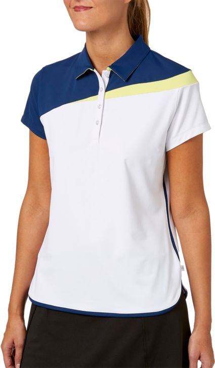 Lady Hagen Women's Watercolor Collection Colorblock Short Sleeve Golf Polo