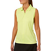 Lady Hagen Women's Watercolor Collection Zipper Sleeveless Golf Polo