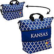 Kansas Jayhawks Quatrefoil Expandable Tote