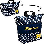 Michigan Wolverines Quatrefoil Expandable Tote