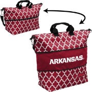 Arkansas Razorbacks Quatrefoil Expandable Tote