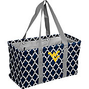 West Virginia Mountaineers Quatrefoil Picnic Caddy