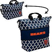 Chicago Bears Quatrefoil Expandable Tote