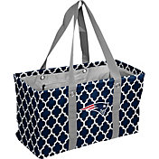 New England Patriots Quatrefoil Picnic Caddy