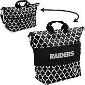 Oakland Raiders Quatrefoil Expandable Tote