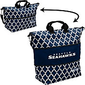 Seattle Seahawks Quatrefoil Expandable Tote