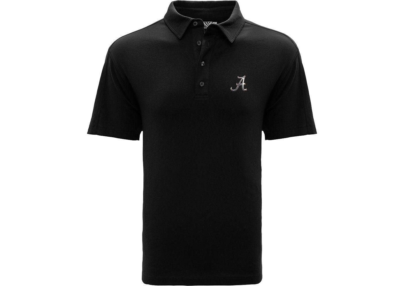 Levelwear Men's Alabama Crimson Tide Black Reign Polo