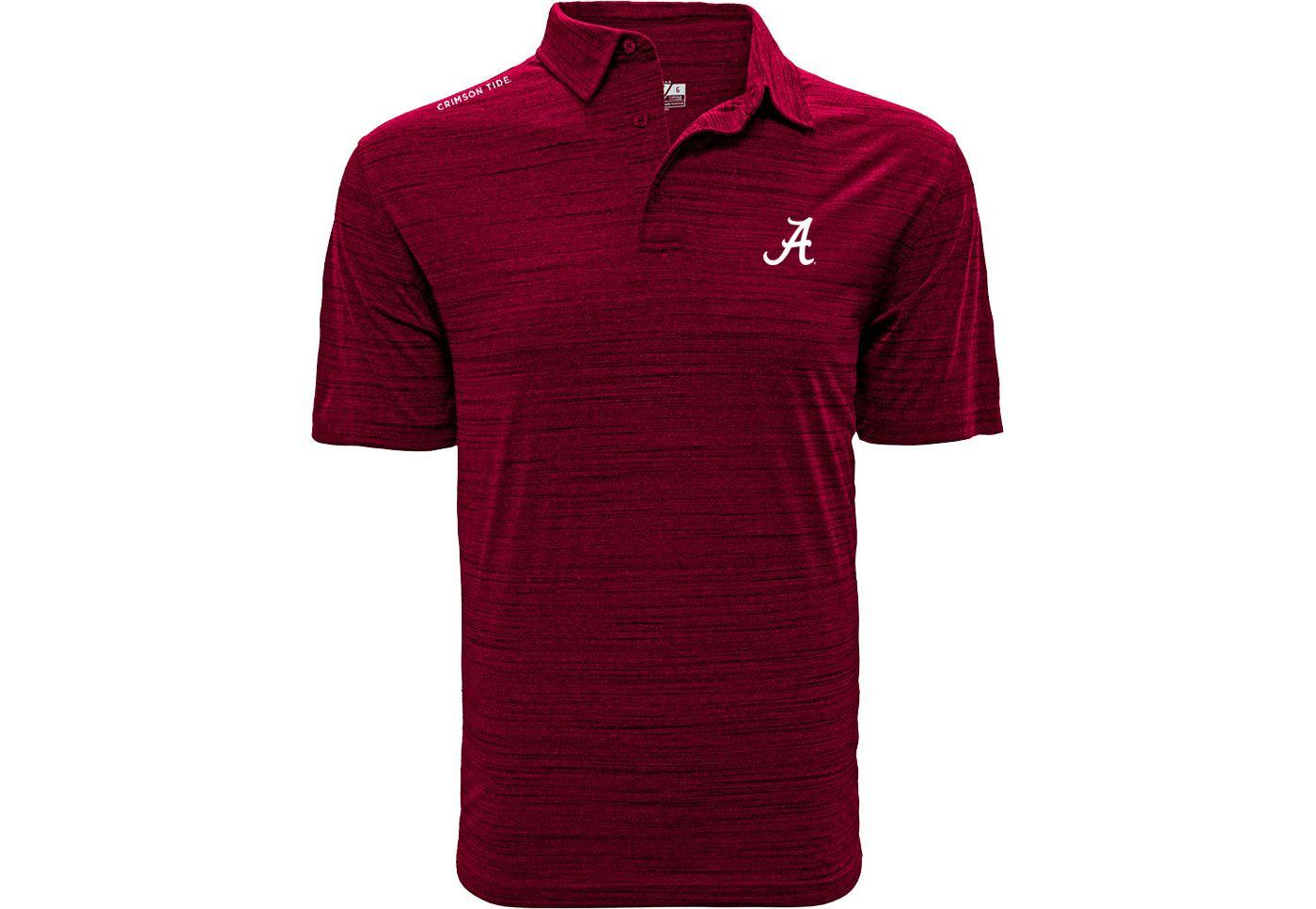 Levelwear Men's Alabama Crimson Tide Crimson Sway Polo
