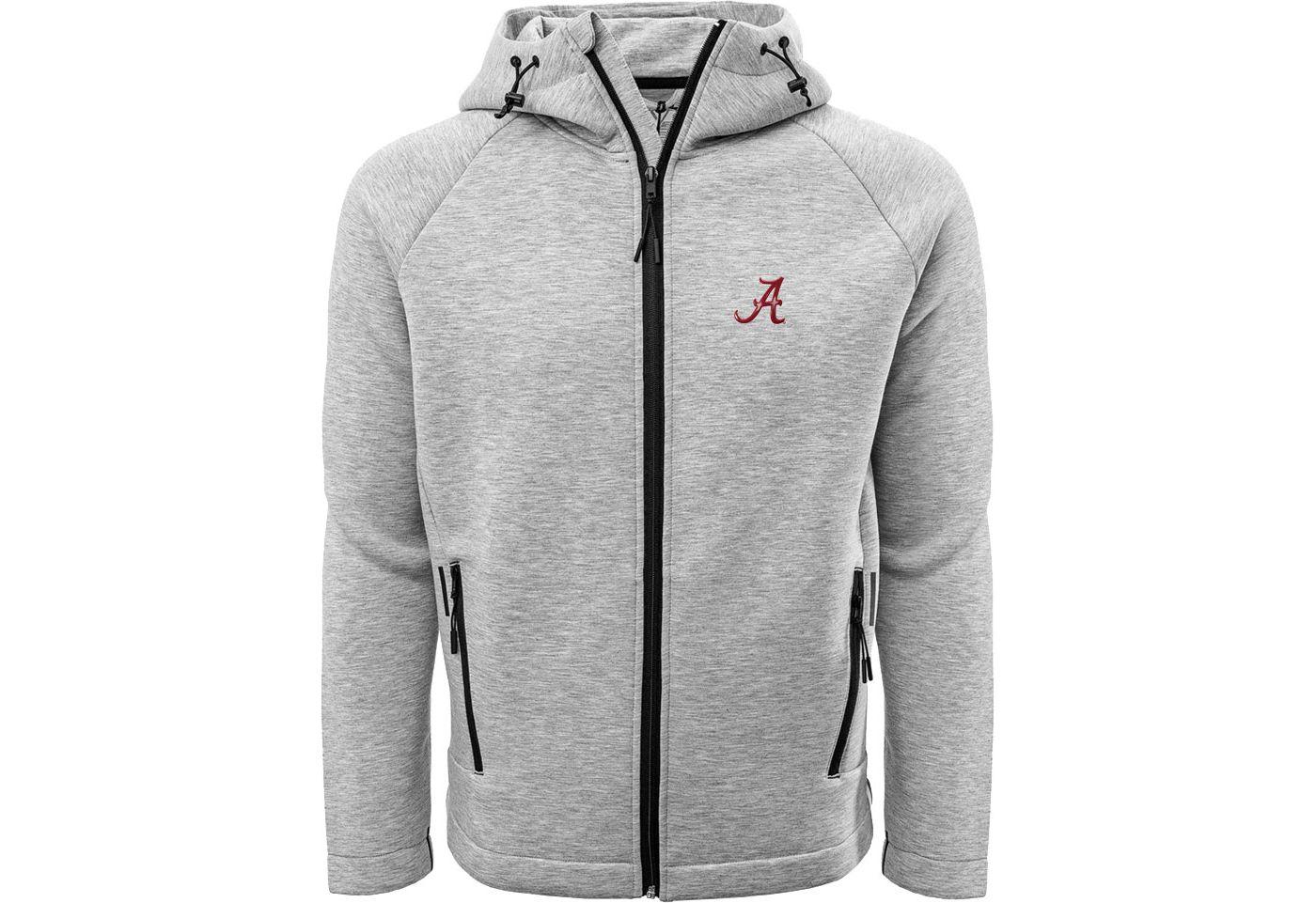 Levelwear Men's Alabama Crimson Tide Grey Titan Full-Zip Jacket