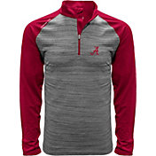 Levelwear Men's Alabama Crimson Tide Grey Vandal Quarter-Zip Shirt