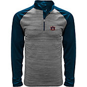 Levelwear Men's Auburn Tigers Grey Vandal Quarter-Zip Shirt