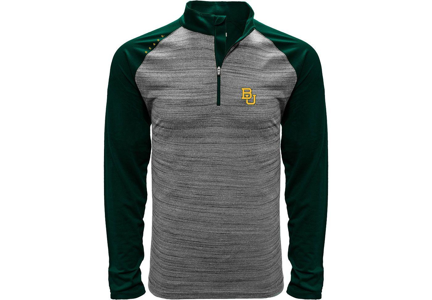 Levelwear Men's Baylor Bears Grey Vandal Quarter-Zip Shirt