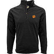 Levelwear Men's Clemson Tigers Black Metro Quarter-Zip Pullover