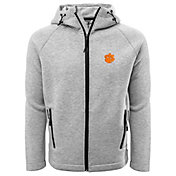 Levelwear Men's Clemson Tigers Grey Titan Full-Zip Jacket