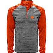 Levelwear Men's Clemson Tigers Grey Vandal Quarter-Zip Shirt