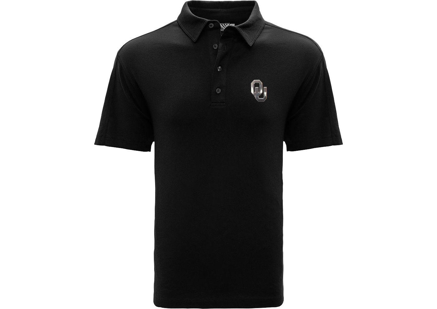 Levelwear Men's Oklahoma Sooners Black Reign Polo