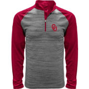 Levelwear Men's Oklahoma Sooners Grey Vandal Quarter-Zip Shirt