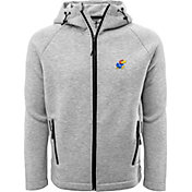 Levelwear Men's Kansas Jayhawks Grey Titan Full-Zip Jacket