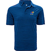 Levelwear Men's Kansas Jayhawks Blue Sway Polo