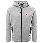 Levelwear Men's Illinois Fighting Illini Grey Titan Full-Zip Jacket