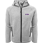 Levelwear Men's LSU Tigers Grey Titan Full-Zip Jacket