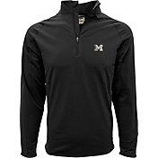 Levelwear Men's Michigan Wolverines Black Metro Quarter-Zip Pullover