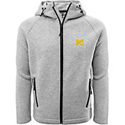 Levelwear Men's Michigan Wolverines Grey Titan Full-Zip Jacket