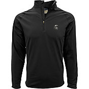 Levelwear Men's Michigan State Spartans Black Metro Quarter-Zip Pullover