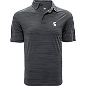 Levelwear Men's Michigan State Spartans Grey Sway Polo