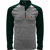 Levelwear Men's Miami Hurricanes Grey Vandal Quarter-Zip Shirt