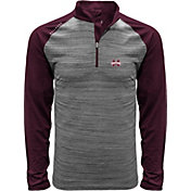 Levelwear Men's Mississippi State Bulldogs Grey Vandal Quarter-Zip Shirt