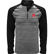 Levelwear Men's Nebraska Cornhuskers Grey Vandal Quarter-Zip Shirt