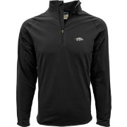 Levelwear Men's Arkansas Razorbacks Black Metro Quarter-Zip Pullover