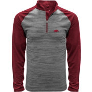 Levelwear Men's Arkansas Razorbacks Grey Vandal Quarter-Zip Shirt