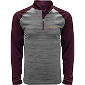 Levelwear Men's Arizona State Sun Devils Grey Vandal Quarter-Zip Shirt
