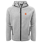 Levelwear Men's Syracuse Orange Grey Titan Full-Zip Jacket