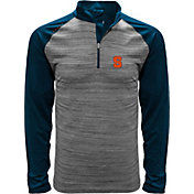 Levelwear Men's Syracuse Orange Grey Vandal Quarter-Zip Shirt