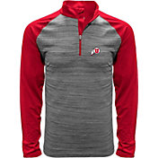 Levelwear Men's Utah Utes Grey Vandal Quarter-Zip Shirt
