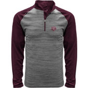 Levelwear Men's Texas A&M Aggies Grey Vandal Quarter-Zip Shirt