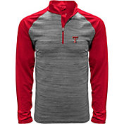 Levelwear Men's Texas Tech Red Raiders Grey Vandal Quarter-Zip Shirt