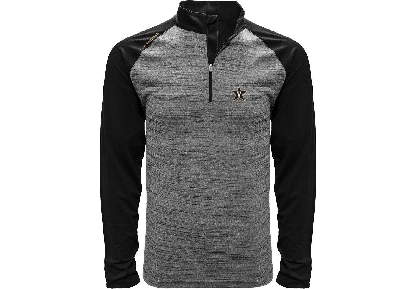 Levelwear Men's Vanderbilt Commodores Grey Vandal Quarter-Zip Shirt