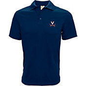 Levelwear Men's Virginia Cavaliers Blue Helium Polo