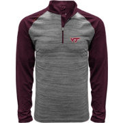 Levelwear Men's Virginia Tech Hokies Grey Vandal Quarter-Zip Shirt