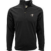 Levelwear Men's Wisconsin Badgers Black Metro Quarter-Zip Pullover