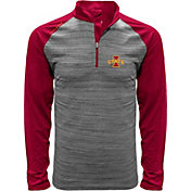 Levelwear Men's Iowa State Cyclones Grey Vandal Quarter-Zip Shirt