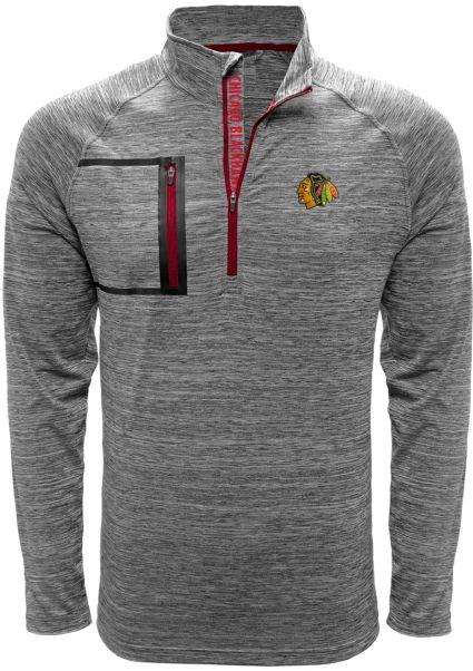 Levelwear Men's Chicago Blackhawks Vault Grey Quarter-Zip Pullover