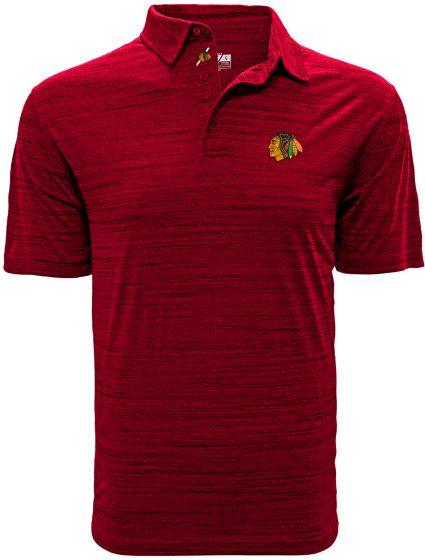 Levelwear Men's Chicago Blackhawks Sway Red Polo