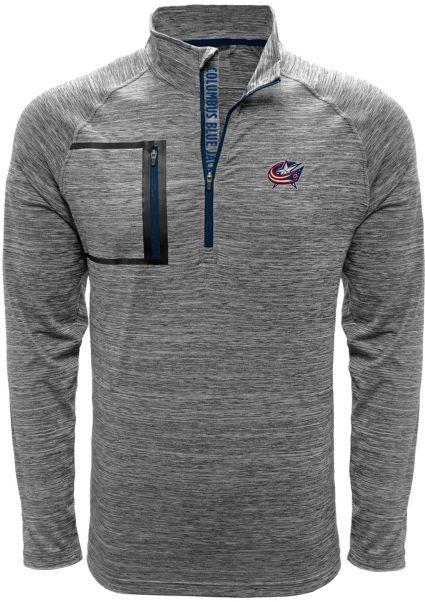 Levelwear Men's Columbus Blue Jackets Vault Grey Quarter-Zip Pullover