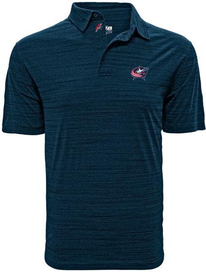 Levelwear Men's Columbus Blue Jackets Sway Navy Polo