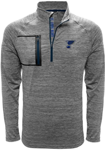 Levelwear Men's St. Louis Blues Vault Grey Quarter-Zip Pullover